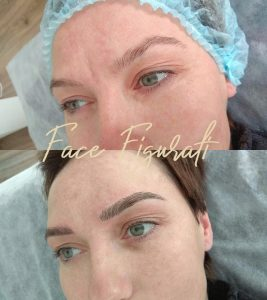 microblading before and after , high level work with only hand made maniple pen
